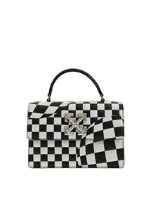 Off-White - Check Jitney 1.4 handbag in white and black