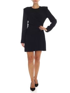 Stella McCartney - Black dress with side gathering