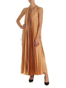 Stella McCartney - Long pleated dress in nude color