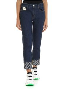 Stella McCartney - Jeans in blue with branded interior