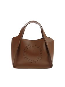 Stella McCartney - Tote bag with openwork logo in brown