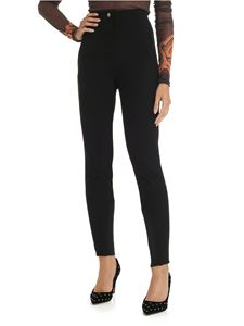 Etro - Black trousers with rear crossing