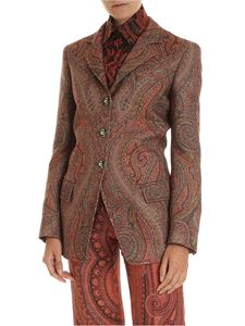 Etro - Jacket in shades of brown with arabesque pattern