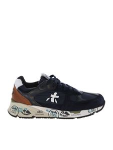 Premiata - Mase sneakers in blue and brown