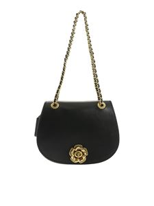 Coach - Parker shoulder bag in black and mud color