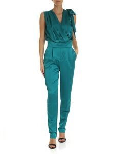 Pinko - Paradise jumpsuit in emerald green color