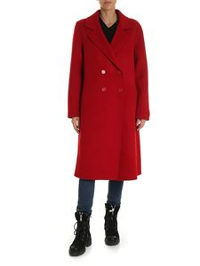 Parosh - Over-fit red double-breasted coat