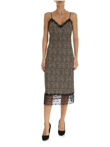 Michael Kors - Animal print lingerie dress with lace
