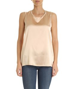 Kangra Cashmere - Silk top in nude color