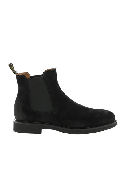 Doucal's - Chelsea in suede nera con logo
