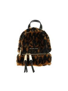 Michael Kors - Rhea Zip backpack in eco fur animal print