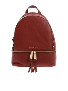 Michael Kors - Rhea zip backpack in burgundy leather