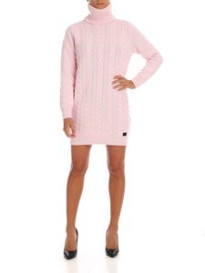be Blumarine - Braided turtleneck dress in pink
