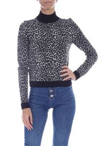 Michael Kors - Animal print pullover in black and grey