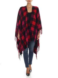Woolrich - Red, pink and black checked cape