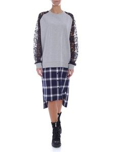 McQ Alexander Mcqueen - Grey dress with shirt-effect bottom
