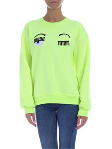 Chiara Ferragni - Flirting sweatshirt in neon yellow color