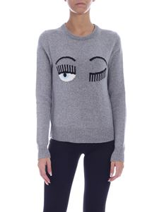 Chiara Ferragni - Flirting crew neck pullover in grey