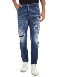Dsquared2 - Destroyed effect blue jeans