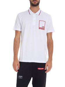 Love Moschino - Polo in white with rubberized logo