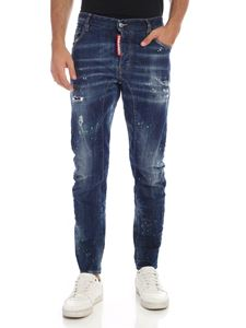 Dsquared2 - Faded-effect blue jeans