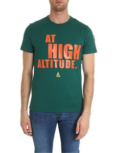 Moncler - T-shirt verde At High Altitude