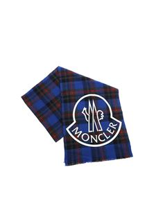 Moncler - Blue, red and black scarf with logo print