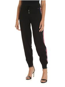 Tommy Hilfiger - Black trousers with contrasting side bands