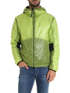 CP Company - Lime green down jacket with glasses