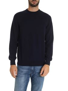 Fedeli - Pure cashmere pullover in blue color