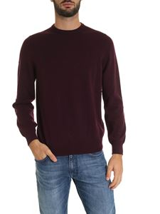 Fedeli - Pullover in pure cashmere in burgundy color