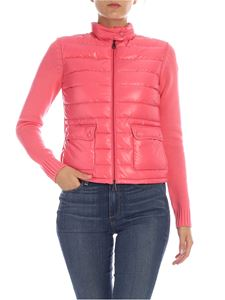 Moncler - Pink cardigan with padded insert