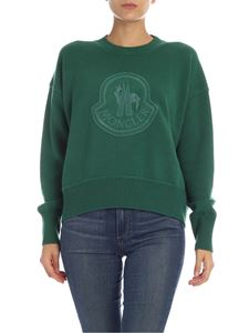 Moncler - Patch logo pullover in green
