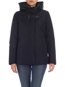 Fay - Removable hood down jacket in blue