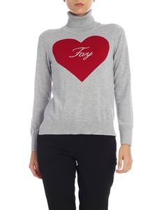 Fay - Heart pullover in grey