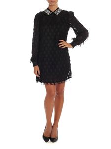 be Blumarine - Black dress with fringes and rhinestones