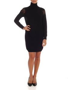 be Blumarine - Short dress in black with lace details