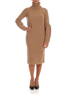 be Blumarine - Knit dress in camel color