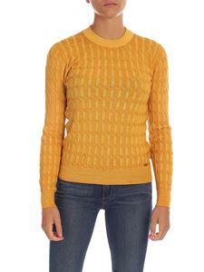Fay - Braided knitting pullover in yellow