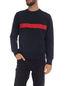 Woolrich - Blue sweatshirt with Woolrich print