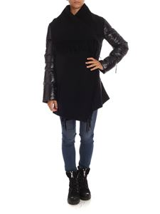 Moncler - Padded sleeves cape in black