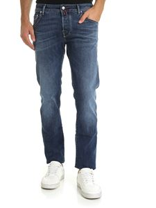 Jacob Cohën - Jeans in blue color with red and burgundy logo