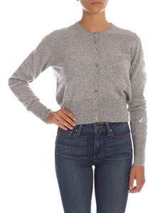 Ballantyne - Embroidered cardigan in grey