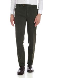 Brooks Brothers - Green trousers in diagonal fabric