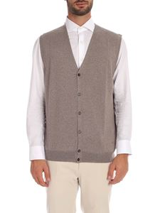 Fay - Dove grey color vest with logo embroidery