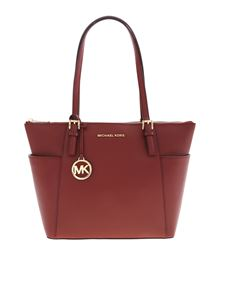 Michael Kors - Large Jet Sety tote bag in Brandy color