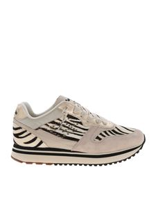 Lotto Leggenda - Slice Zebra sneakers in ecru and black color