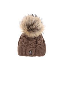 Parajumpers - Cable hat in melange brown