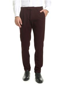 Briglia 1949 - Burgundy textured fabric trousers