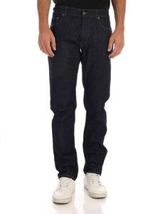Lacoste - Slim fit jeans in blue with logo